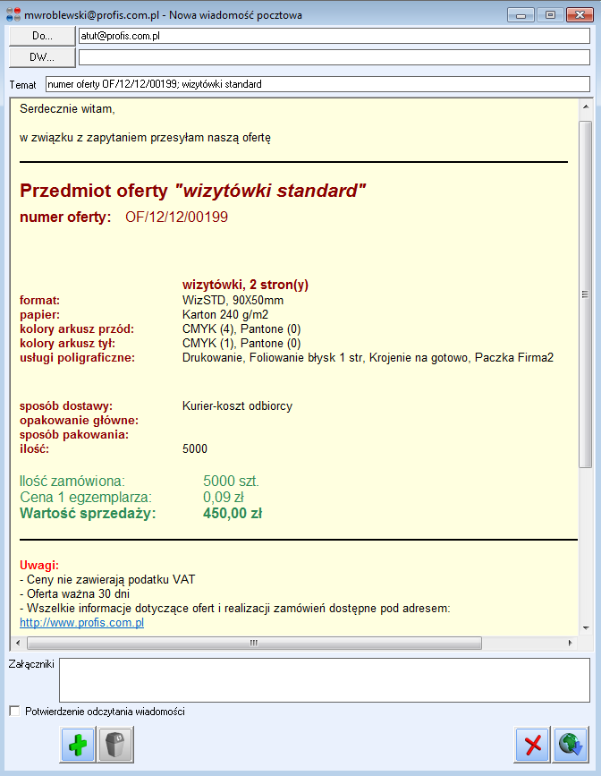 Oferta HTML